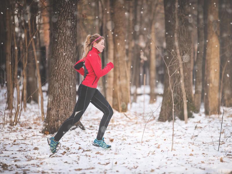 courir quand il fait froid